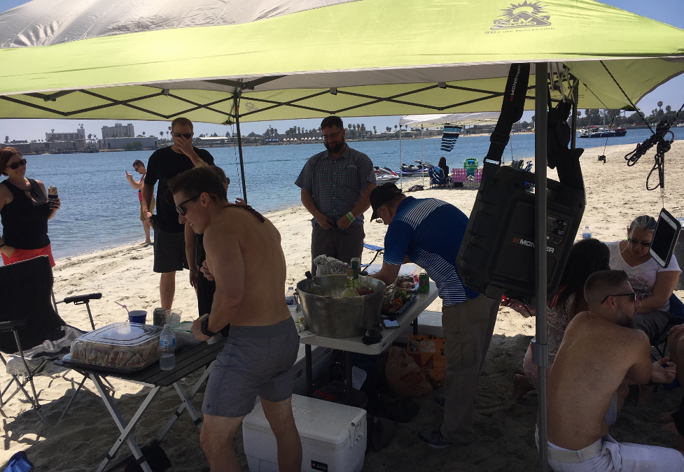 SPECTRUM THROWS A BEACH PARTY