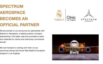 SPECTRUM AEROSPACE BECOMES OFFICIAL PARTNER WITH THE REAL MADRID FOUNDATION'S CAMPS OF LOS ANGELES
